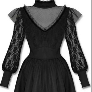 Spin Doctor Nevermore Dress Black Lace Tulle Size